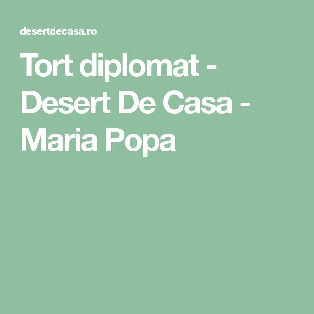 Tort diplomat - Desert De Casa - Maria Popa