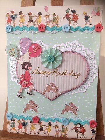Birthday card for a sister A5 using papers from the Belle & Boo range by wwwcherishthememory.co.uk