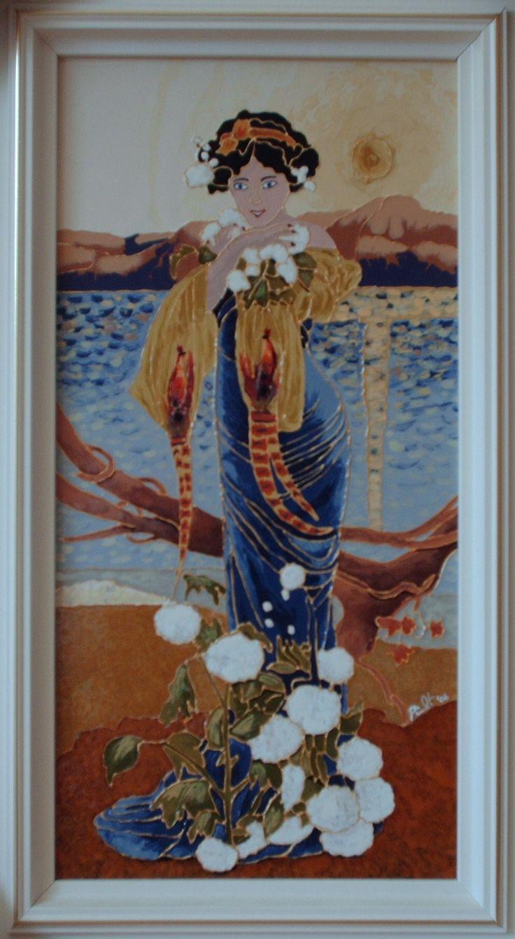 Reproduction / peinture vitrail et céramique