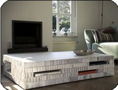 Kartonnen salontafel