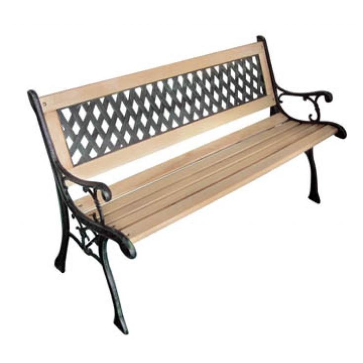 Panchina da giardino XL con schienale incrociato
