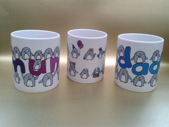 Mother's Day Gift  Mum Penguin Mug  Birthday by penguinparadeshop