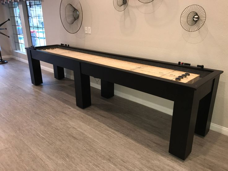 12' Shuffleboard Table-Butcher Block Table-Pool Table-Billiards--Game Room Furniture-Game of Thrones-Gaming Tables-Rustic Gaming Table by sawyertwain on Etsy