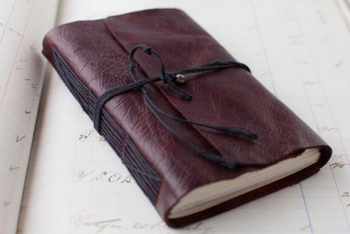 Leather Journal Tutorial  - best i've found so far - clear direction and good pics!