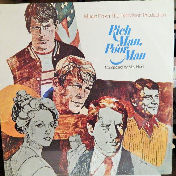 "Rich Man Poor Man 12"" Vinyl LP (1976, Television Mini-Series Soundtrack, music Alex North) Made Nick Nolte & Peter Strauss stars;Collectible"