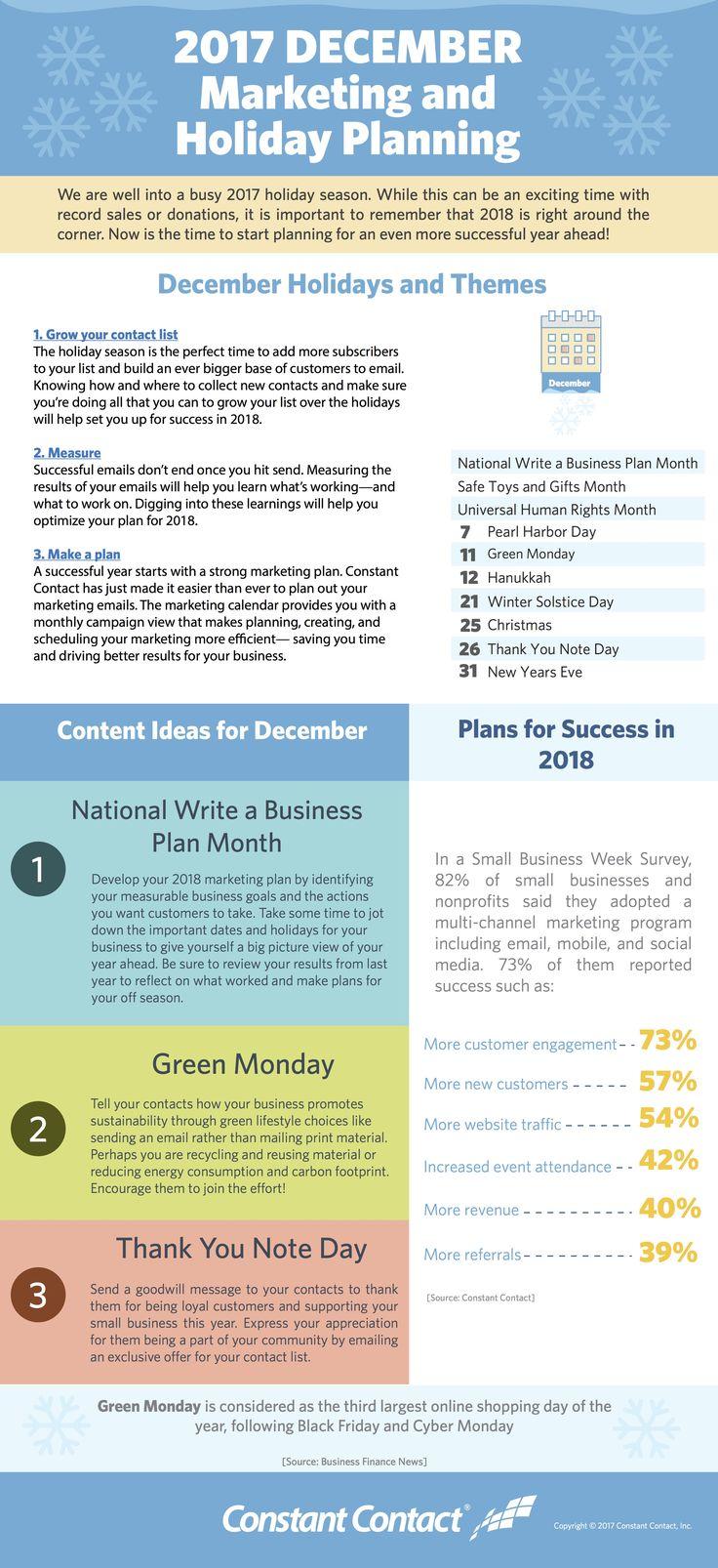 Infographics 2018 holidays