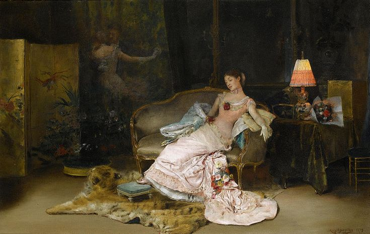 File:Rogelio de Egusquiza A reverie during the ball 1879.jpg