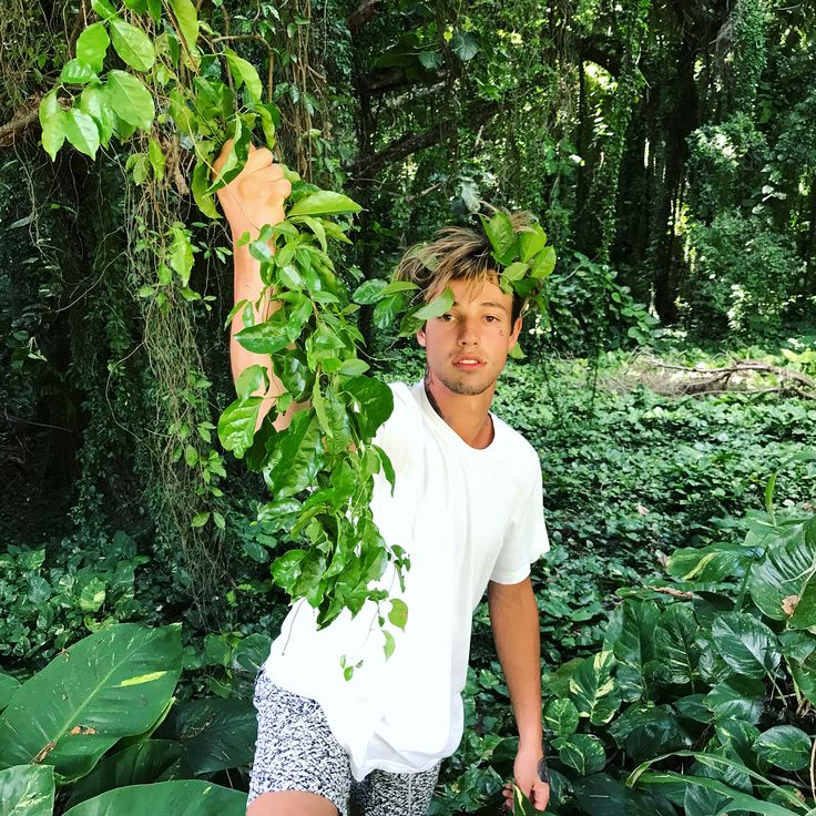 We are observing Cameron Dallas in his natural habitat!!! He's about to swing from the vine like Tarzan!!! LOL Cameron Dallas into the wild