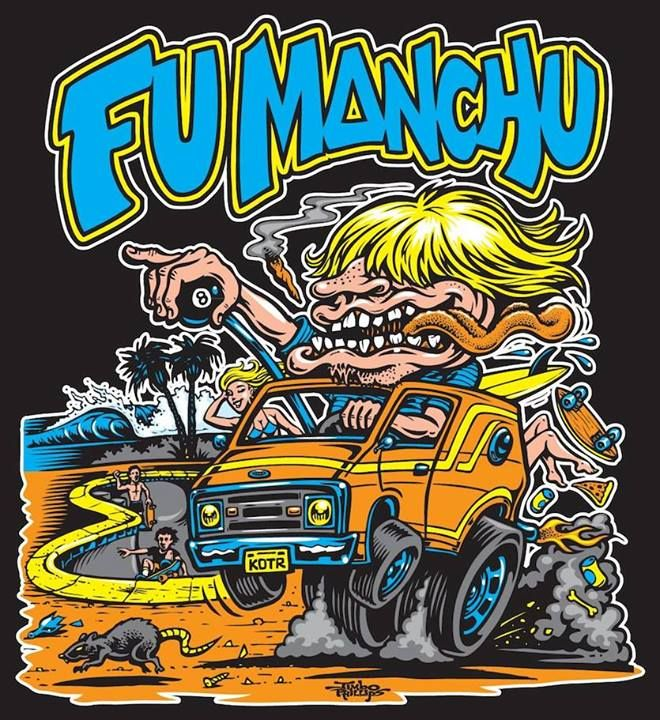 Jimbo Phillips Graphix - New T-shirt design for FU MANCHU!
