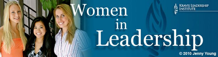 Web graphic for the Claremont McKenna College Kravis Leadership Institute. YAY WOMEN