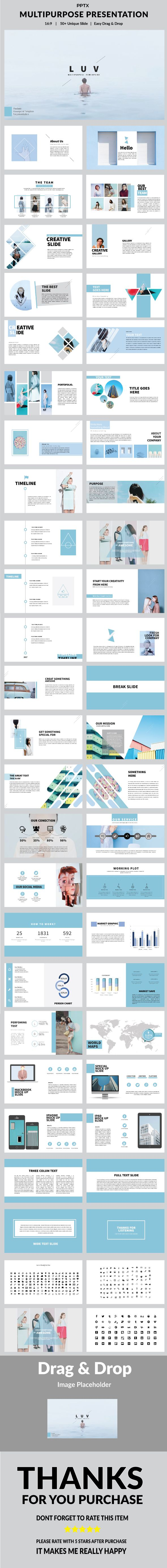 Luv – Multipurpose PowerPoint Template – PowerPoint Templates Presentation Templ…
