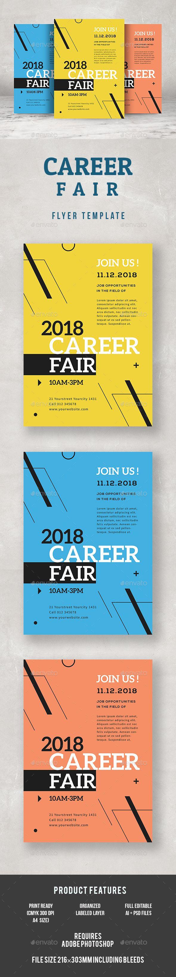Career Fair #Fyer - Corporate Flyers Download here: https://graphicriver.net/item/career-fair-fyer/19581777?ref=alena994