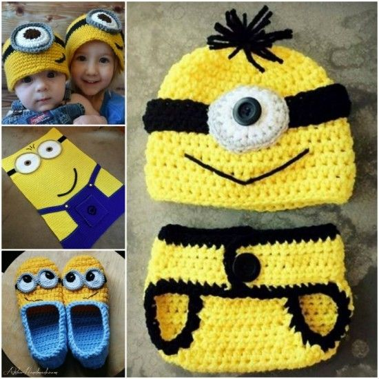 Minion Crochet Patterns - lots of free patterns in our post