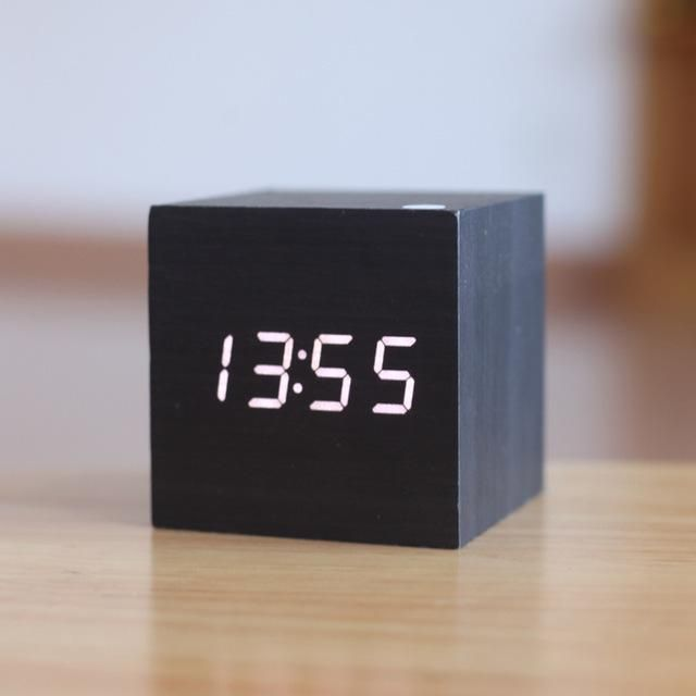 Digital Wooden Alarm Clock Clock Digital Table Clock Wood Clocks