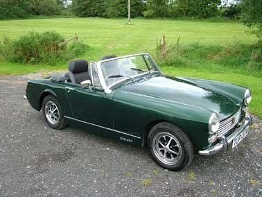 The car of my youthful dreams ... a dark green MG Midget with black interior!