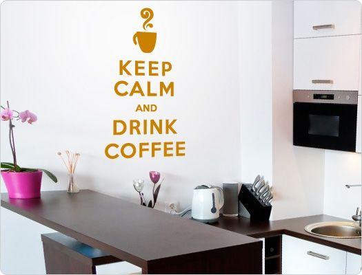 15 best Lustige Kaffee Sprüche und Motive für die Küche images on - wandtattoos küche kaffee