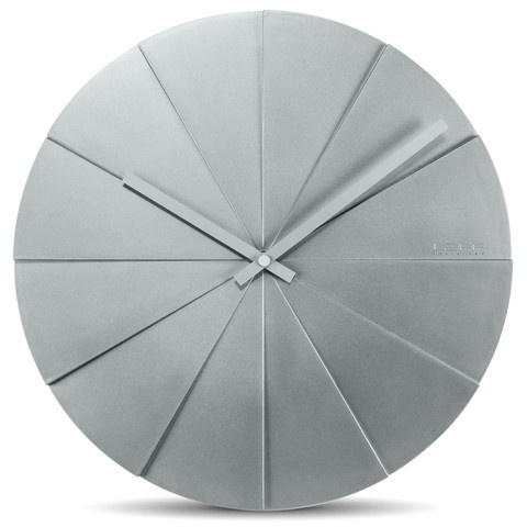 Scope Clock Grey clock by Leff Amsterdam at www.yasidesign.com, Click to Experience.