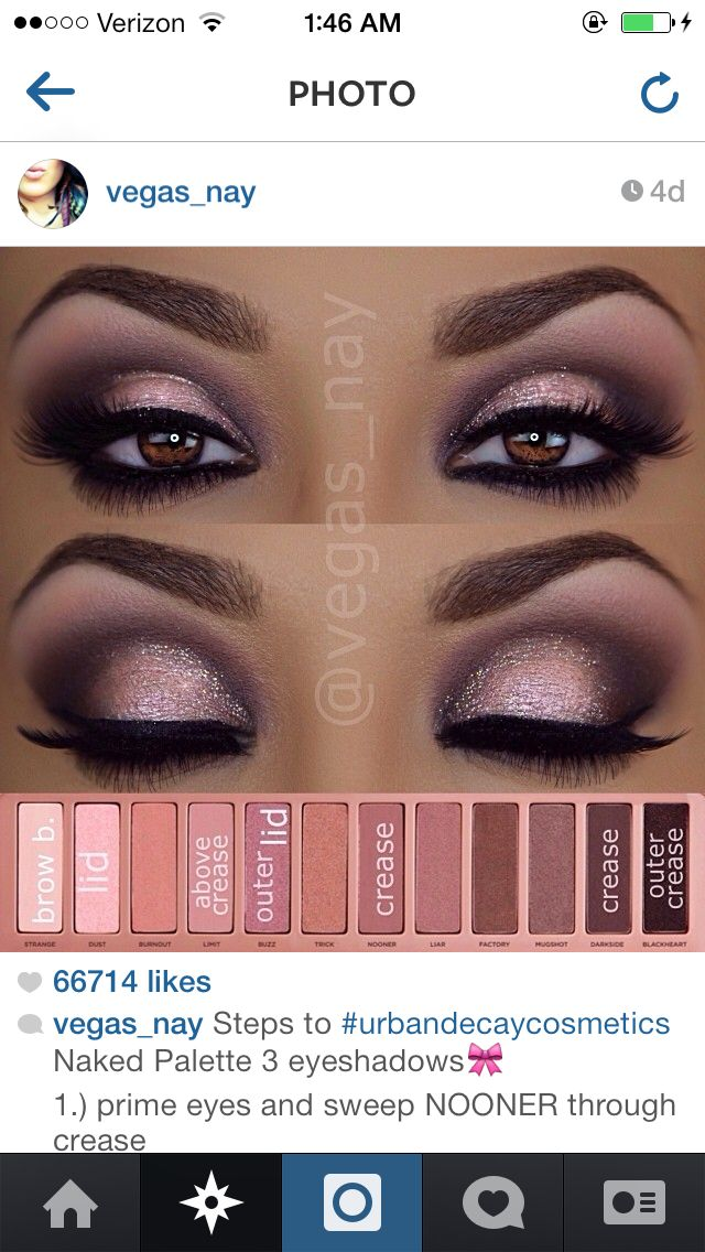Naked Eyes Neutral Eyeshadow Guide: Pin By Percibal Puello On MakeUp