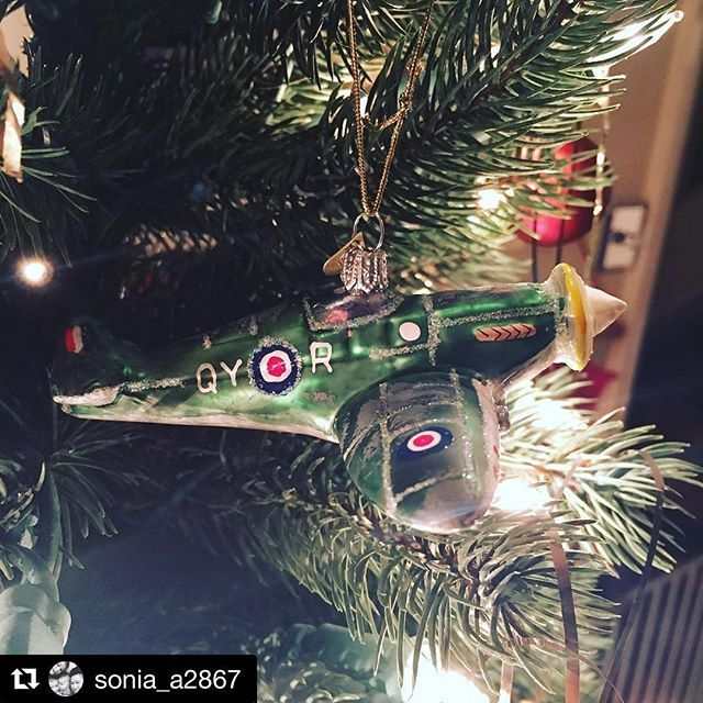 Thanks for sharing @sonia_a2867 😊 we're so pleased you love your Spitfire!  #Repost @sonia_a2867 with @repostapp ・・・ Our new favourite Christmas decoration... because we are aviation nerds #spitfire #bombki #christmas #newdecoration #aviationnerd #airplane #aviationfamily #airplane #handpainted #christmasiscoming #newfavourite #sopretty #loveit