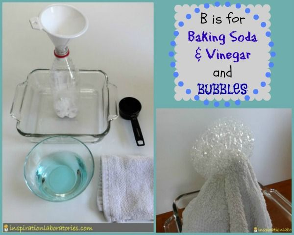 B Is For Baking Soda And Vinegar Bubbles Sodas
