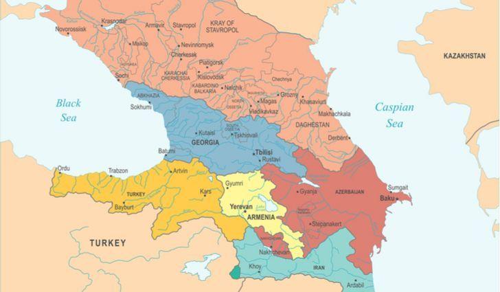Map Of Georgia In Asia.Is Armenia In Europe Or Asia History Armenia Caucasus