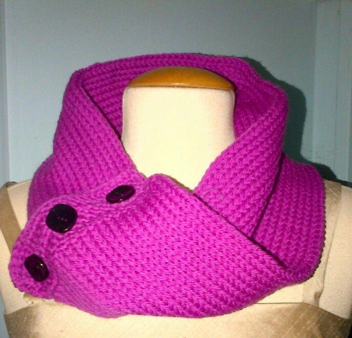 Cowl, Addi knitting machine and crochet.                                                                                                                                                                                 More