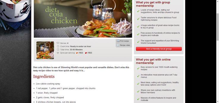 Diet cola chicken - Recipes - Slimming World