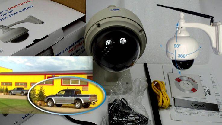Camera supraveghere cu IP PNI IP641W dome de exterior PTZ conectare wire...