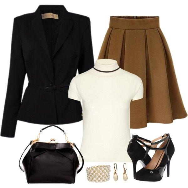 How To Wear skirt suit Fashion Set Outfit Idea 2017 - Fashion Trends Ready To Wear For Plus Size, Curvy Women Over 20, 30, 40, 50
