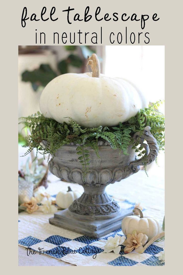 Fall Table in Cool Neutral Colors