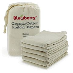 Organic Cotton Prefolds : Large Organic Cotton Prefolds