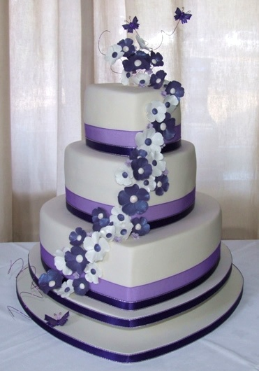 Pretty Heart Cake For Wedding Purple Pictures Cute Ideas, Purple Wedding  Cakes Unique Wedding Cakes
