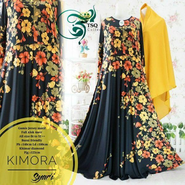 Baju Gamis Cantik Kimora Syar'i Jersey Online - https://www.bajugamisku.com/baju-gamis-cantik-kimora-syari-jersey