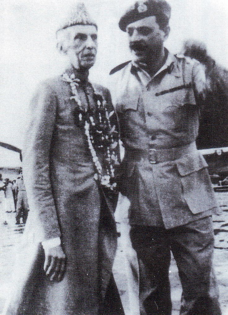 with Ayub Khan in Dhaka 1948