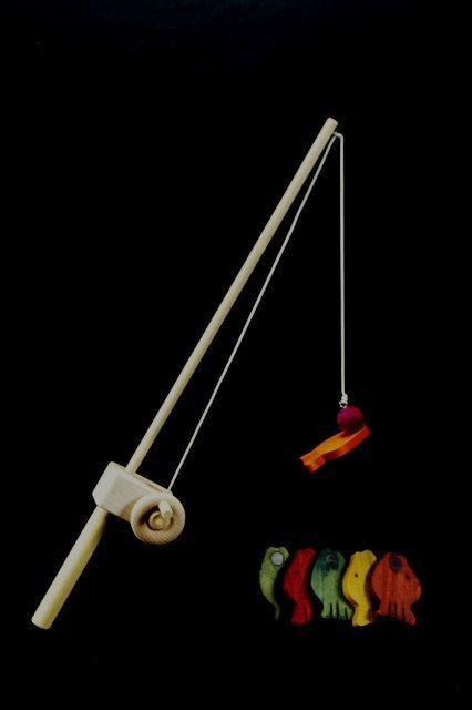 Wooden Toy Fishing Pole by myhandmadetoy on Etsy