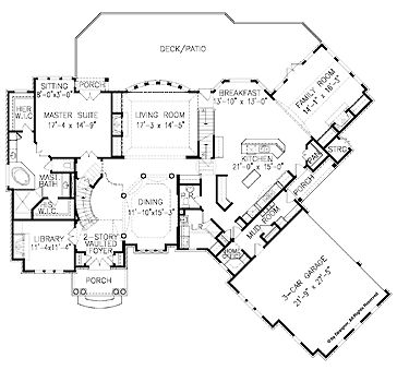 7 best fantastic floor plans images on pinterest house for House plans with offset garage