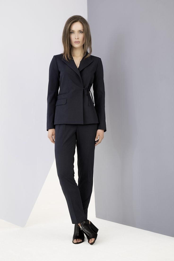 Beautifully tailored wool blazer and trousers by Carolyn Donnelly The Edit