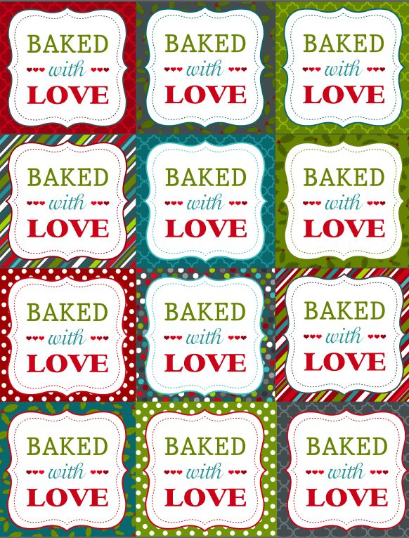 180 best etiketten lables images on pinterest marque page free printble christmas labels for your homemade baked goods negle Choice Image