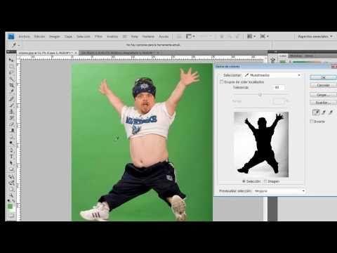 QUITAR FONDO VERDE - Tutorial de Photoshop - YouTube