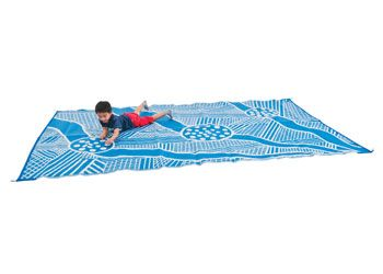 Billyara-Three Rivers Recycled Floor Mat. Made from 100% recycled plastic, this Aboriginal art playmat can be used outdoors