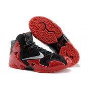 Cheap Nike Lebron 11 Red Black Grey $107.90  http://www.blackonshoes.com