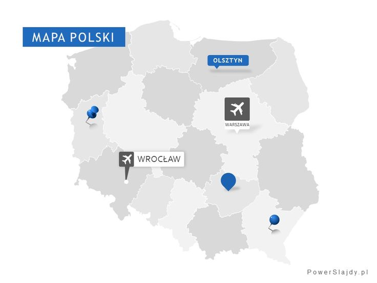 W pełni edytowalna mapa polski z podziałem na województwa http://www.powerslajdy.pl/pl/p/Mapa-Polski/95