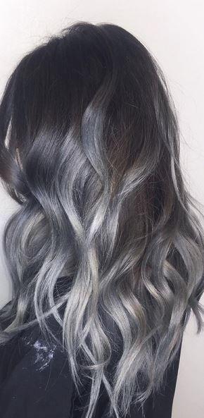 beautiful silver gray hair color