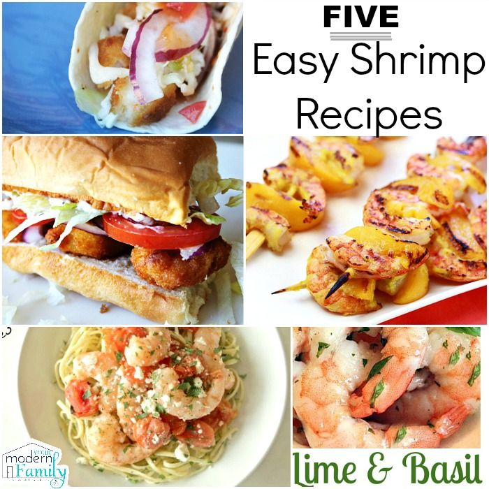 5 Easy Shrimp Recipes that take 15 minute or less!