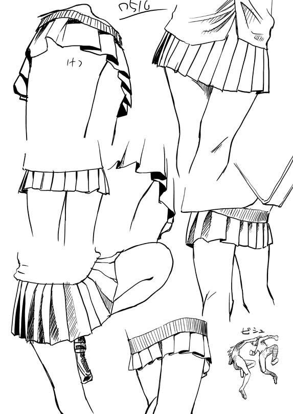 dokuroou: プリーツスカートの描き方 [1] - 資料置き場
