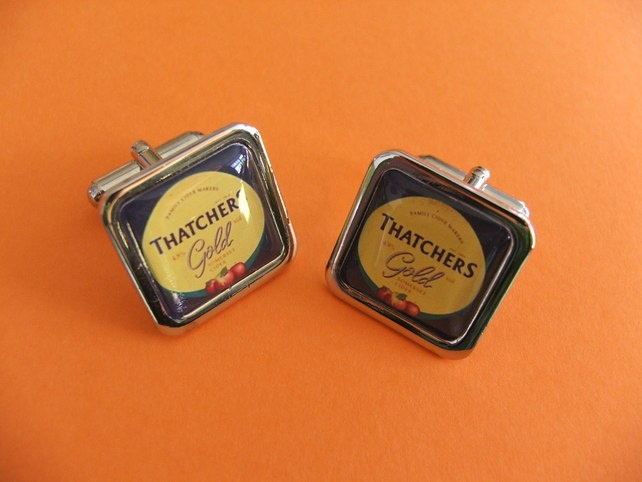 Funky THATCHERS GOLD CUFFLINKS £10.00