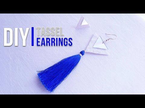 DIY Tassel Earrings | DIY σκουλαρίκια με φουντάκι - La creme