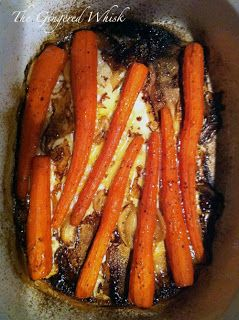 Garlic Roasted Carrots: just drizzle carrots with olive oil and garlic and roast for 20-25 min