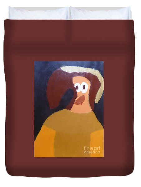 Duvet Cover featuring the painting Portrait Of Marianna Of Austria 2015 - After Diego Velazquez by Patrick Francis
