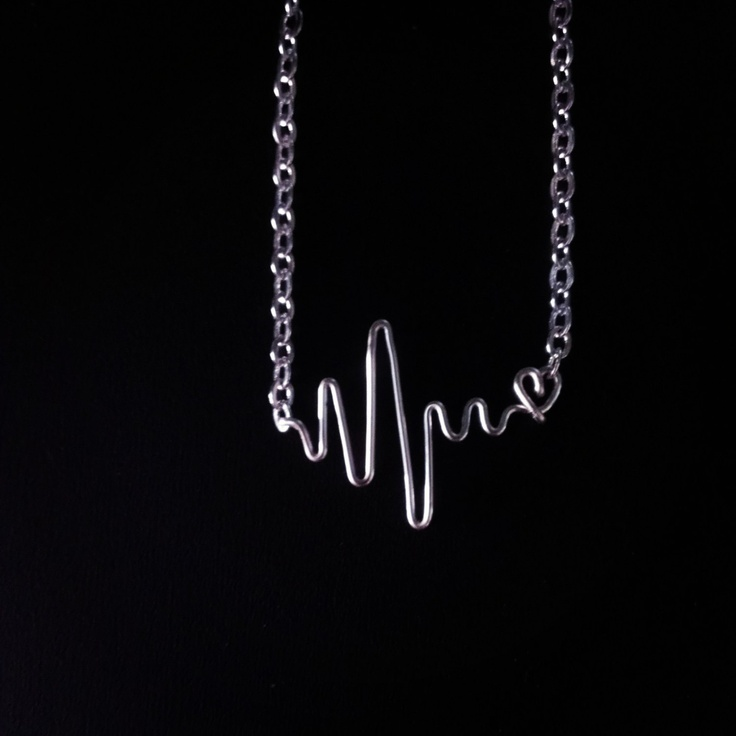 After surgery gift for myself <3 Heartbeat Heart Necklace by wiredforfreedom on Etsy, $30.00